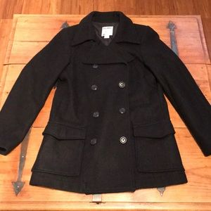 Ladies black coat, great condition, size small